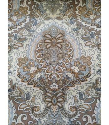 Λονέτα Baroque Style Με Σιέλ- Πορτοκαλί- Γκρι Αποχρώσεις 1,40μ. x 1μ.