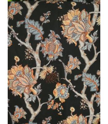 Λονέτα  Chinese Floral Style Μαυρο  1.40 x 1μ.