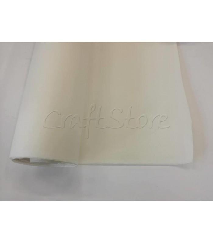 Ενισχυτική Φόδρα Τσάντας Γκοφρέ Αυτοκόλλητη φάρδος 1,5μ. Λευκό