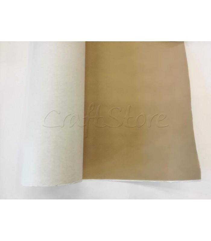 Ενισχυτική Φόδρα Τσάντας Γκοφρέ Αυτοκόλλητη φάρδος 1,5μ. Μπέζ