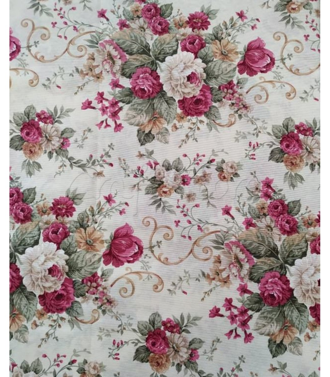 80346c6f2c6b Λονέτα Floral Φούξια Τριαντάφυλλα 40εκ. x 1μ.