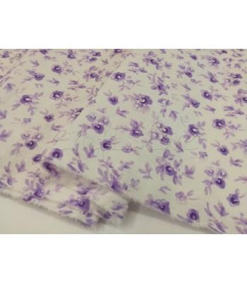 Ύφασμα Βαμβακερό Floral Μωβ 40εκ. x 1μ.