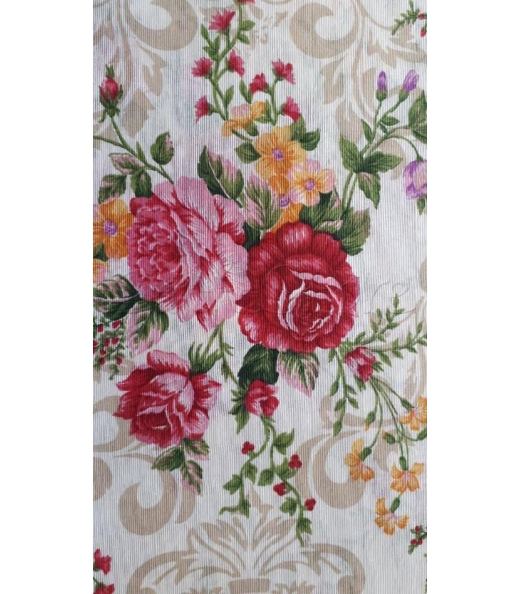 435543d9795c Λονέτα με σχέδιο Vintage Floral Φούξια-Μουστρδί-Μωβ 40εκ. x 1μ ...