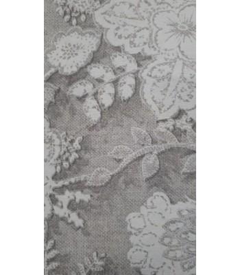 Λονέτα Γκρι Ανάγλυφα Λουλουδάκια 1,40μ. x 1μ.