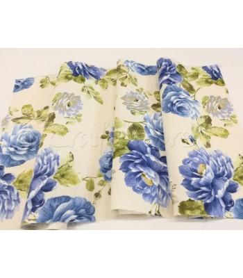 Λονέτα Floral Μπλε Τριαντάφυλλα 40εκ. x 1μ.