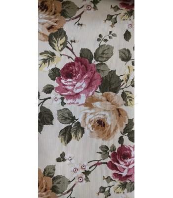 Λονέτα Floral Ροζ-Μπεζ Τριαντάφυλλα 70εκ. x 1.40μ.