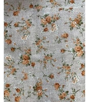 Λονέτα Floral Μπουκετάκια Κεραμιδί 1,40μ. x 1μ.