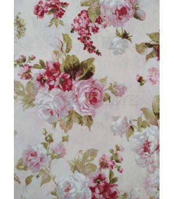 Λονέτα Floral Μπουκετάκια Τριαντάφυλλα 1,40μ. x 1μ.