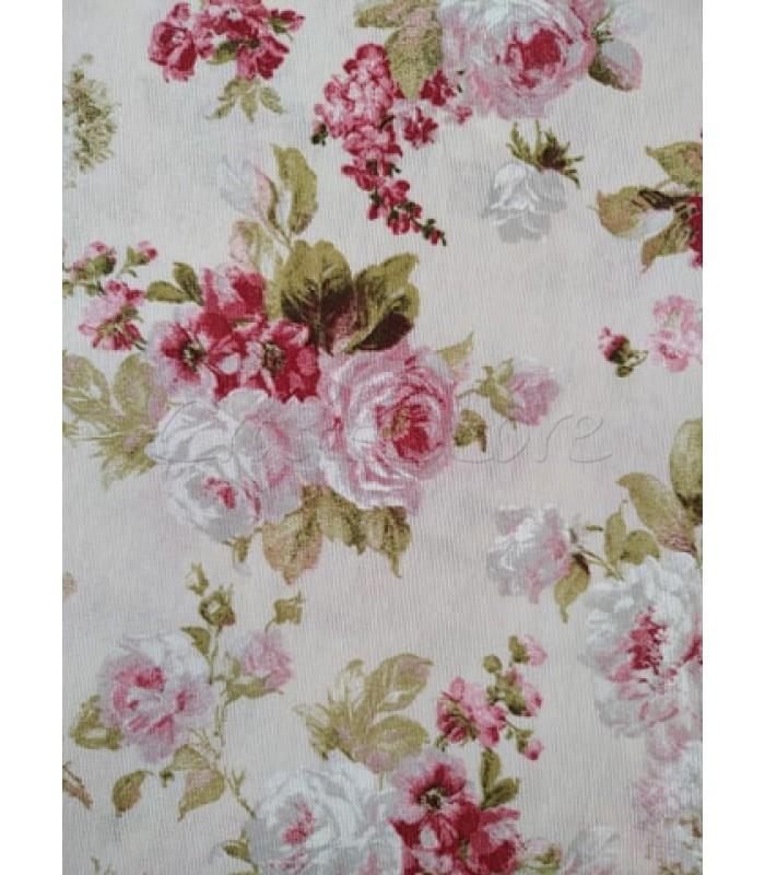 Λονέτα Floral Μπουκετάκια Τριαντάφυλλα 40εκ. x 1μ.