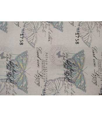 Γιούτα Πεταλούδες Μπεζ-Γκρι 40 εκ. Χ 1μ.