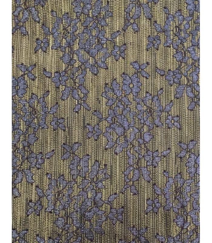 Ύφασμα Χρυσό με Floral μοτίβο σε Αποχρώσεις Μπλε Ραφ  50εκ. Χ 1.5μ.